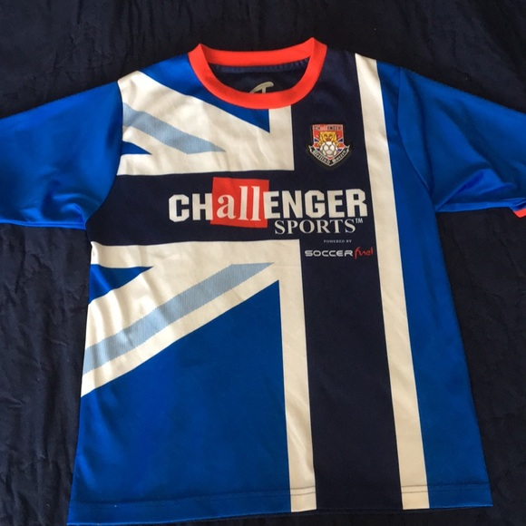7dbf0fe52 Challenger Sports Shirts & Tops   British Soccer Jersey   Poshmark